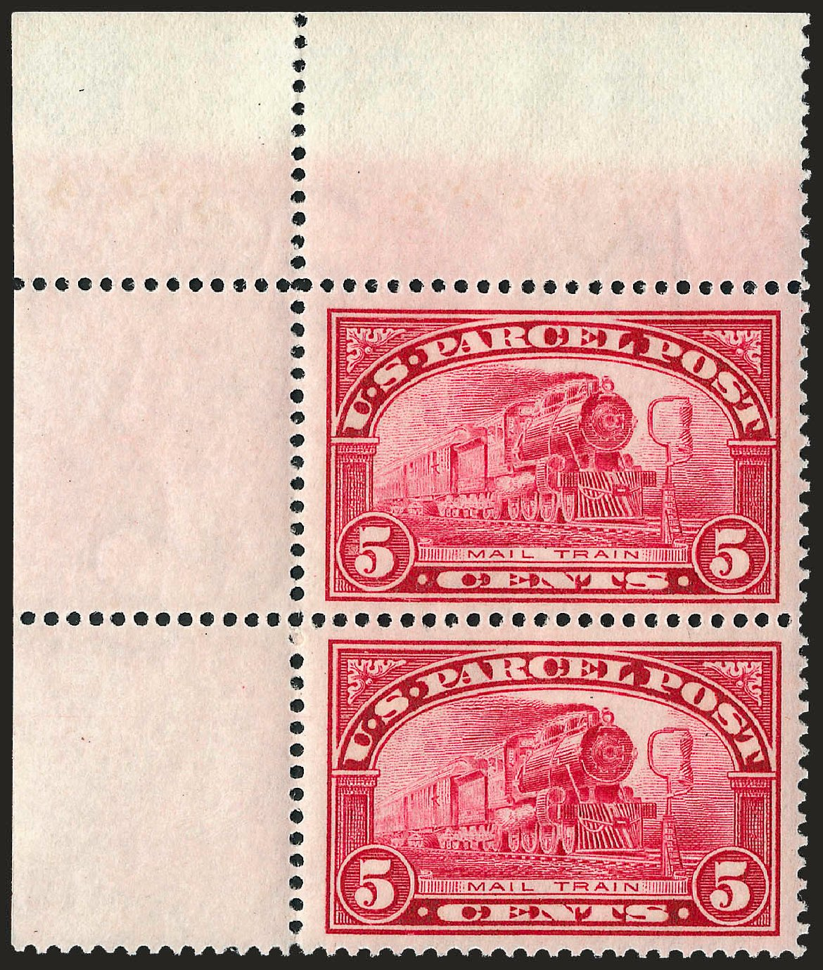 US Stamp Prices Scott Catalog Q5 - 1913 5c Parcel Post. Robert Siegel Auction Galleries, Sep 2008, Sale 962, Lot 3043