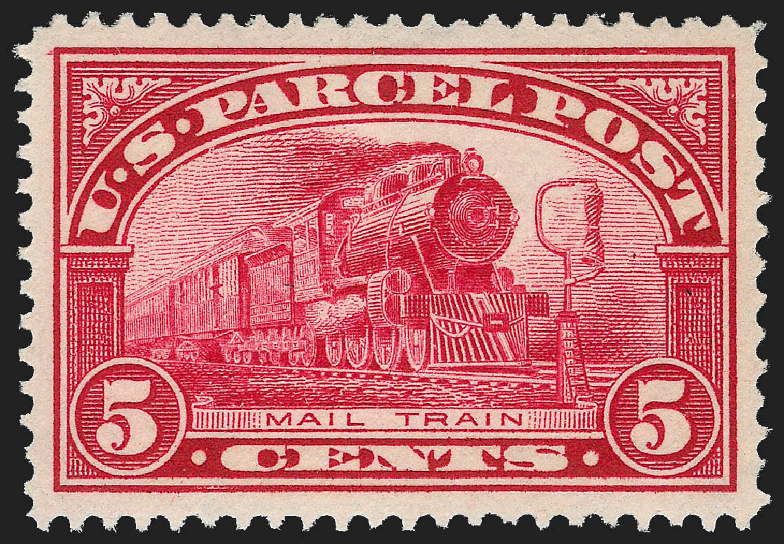 US Stamp Prices Scott Q5: 1913 5c Parcel Post. Robert Siegel Auction Galleries, Dec 2012, Sale 1037, Lot 2346
