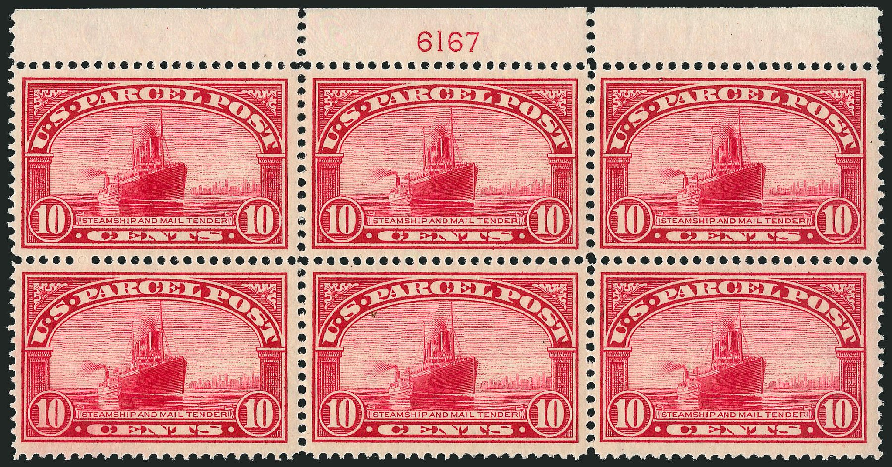 US Stamp Values Scott #Q6: 1913 10c Parcel Post. Robert Siegel Auction Galleries, Apr 2015, Sale 1096, Lot 949