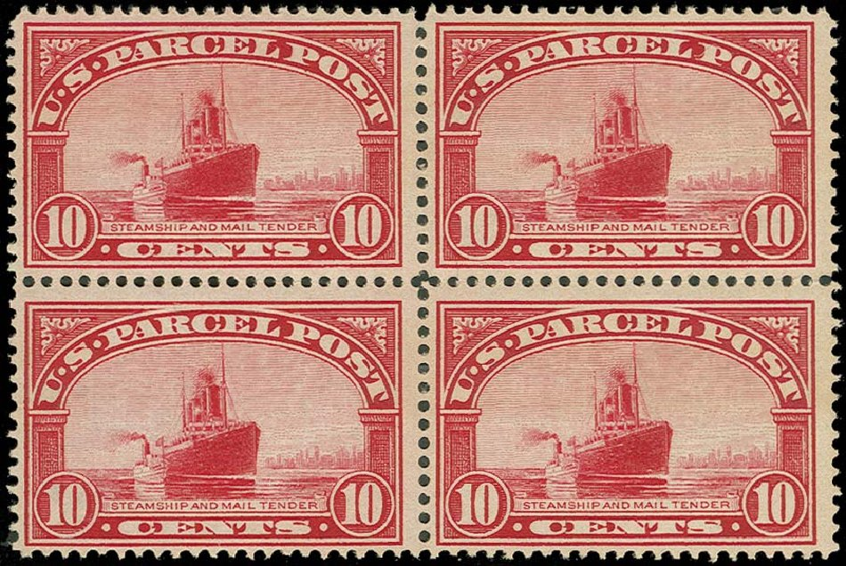 US Stamps Price Scott Catalog # Q6 - 1913 10c Parcel Post. H.R. Harmer, Oct 2014, Sale 3006, Lot 1540