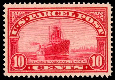 Price of US Stamps Scott Cat. # Q6 - 1913 10c Parcel Post. Daniel Kelleher Auctions, May 2014, Sale 653, Lot 2330