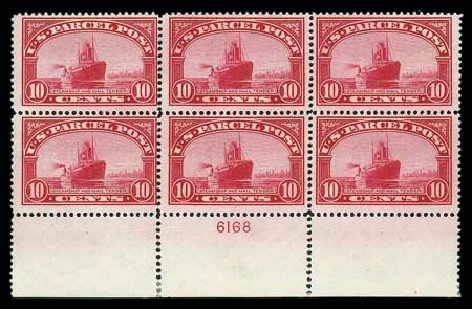 Price of US Stamps Scott Cat. Q6 - 1913 10c Parcel Post. Matthew Bennett International, Jun 2007, Sale 319, Lot 1751