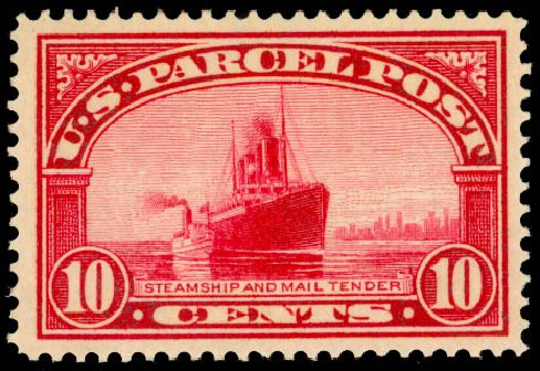 Price of US Stamp Scott Catalog #Q6: 1913 10c Parcel Post. Daniel Kelleher Auctions, Aug 2015, Sale 672, Lot 3024