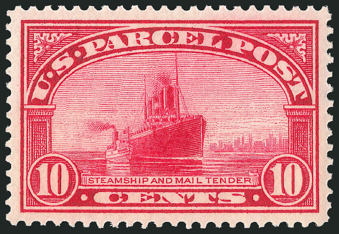 US Stamp Values Scott Catalogue Q6 - 10c 1913 Parcel Post. Robert Siegel Auction Galleries, Dec 2013, Sale 1062, Lot 894