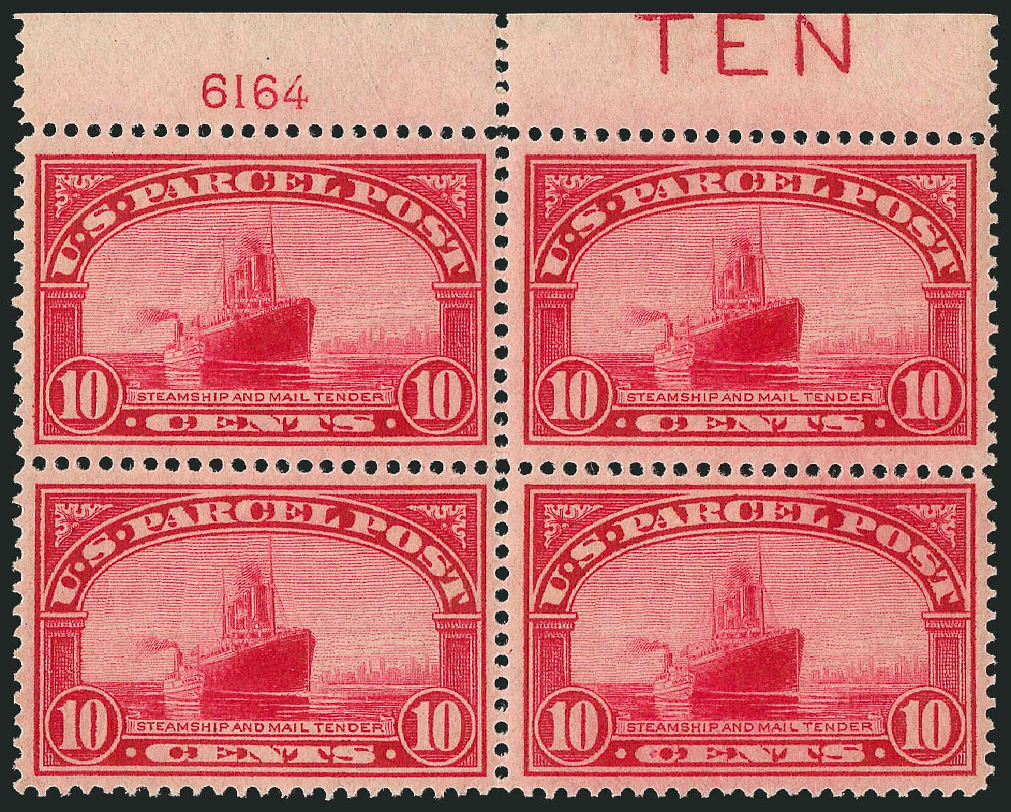 US Stamp Value Scott Catalog # Q6 - 10c 1913 Parcel Post. Robert Siegel Auction Galleries, Jul 2014, Sale 1077, Lot 474