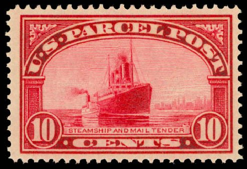 Prices of US Stamps Scott Cat. #Q6: 10c 1913 Parcel Post. Daniel Kelleher Auctions, Aug 2015, Sale 672, Lot 3025