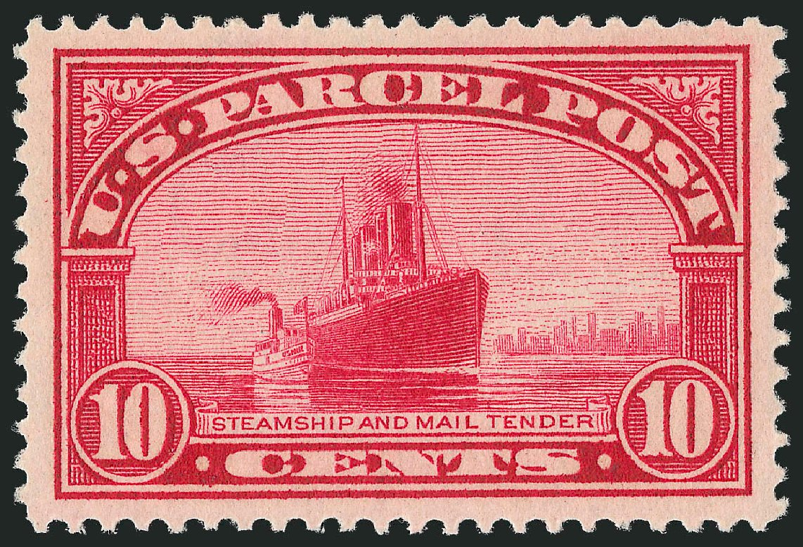 Value of US Stamps Scott Catalog Q6: 1913 10c Parcel Post. Robert Siegel Auction Galleries, Nov 2013, Sale 1061, Lot 4225