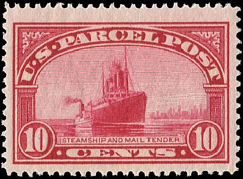 Cost of US Stamps Scott Catalogue Q6 - 1913 10c Parcel Post. Regency-Superior, Nov 2014, Sale 108, Lot 1252