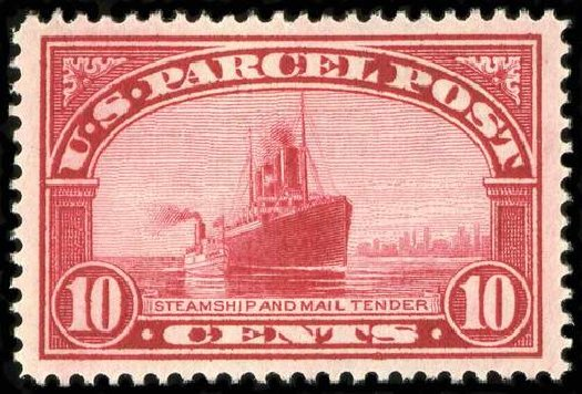 Cost of US Stamp Scott Catalogue #Q6: 10c 1913 Parcel Post. Spink Shreves Galleries, Jul 2015, Sale 151, Lot 412