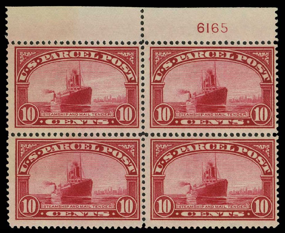 Cost of US Stamps Scott Cat. Q6: 10c 1913 Parcel Post. H.R. Harmer, May 2014, Sale 3005, Lot 1433