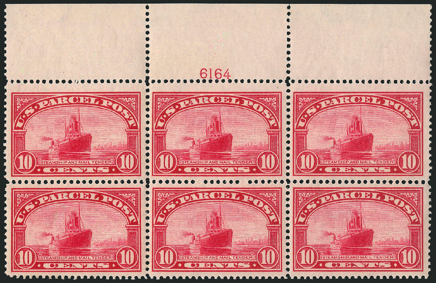 US Stamp Values Scott Cat. # Q6 - 10c 1913 Parcel Post. Robert Siegel Auction Galleries, Mar 2015, Sale 1094, Lot 283