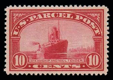 Prices of US Stamp Scott Cat. #Q6 - 10c 1913 Parcel Post. Matthew Bennett International, Oct 2007, Sale 322, Lot 2326