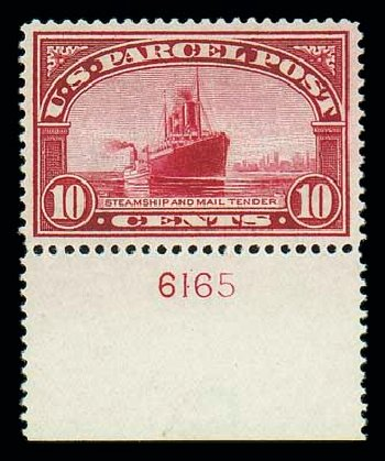 Cost of US Stamp Scott Catalog Q6: 10c 1913 Parcel Post. Matthew Bennett International, Dec 2007, Sale 325, Lot 2546