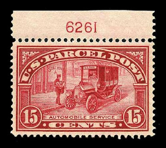 US Stamps Price Scott Cat. Q7 - 1913 15c Parcel Post. Harmer-Schau Auction Galleries, Aug 2015, Sale 106, Lot 2179