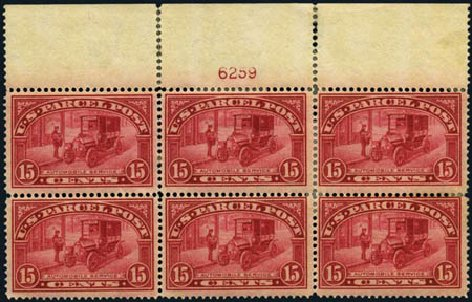 US Stamp Price Scott Cat. #Q7: 15c 1913 Parcel Post. Harmer-Schau Auction Galleries, Aug 2012, Sale 94, Lot 1861