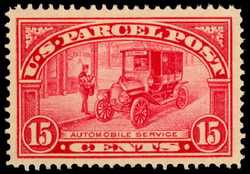 Cost of US Stamp Scott Catalog #Q7 - 15c 1913 Parcel Post. Daniel Kelleher Auctions, Dec 2014, Sale 661, Lot 471