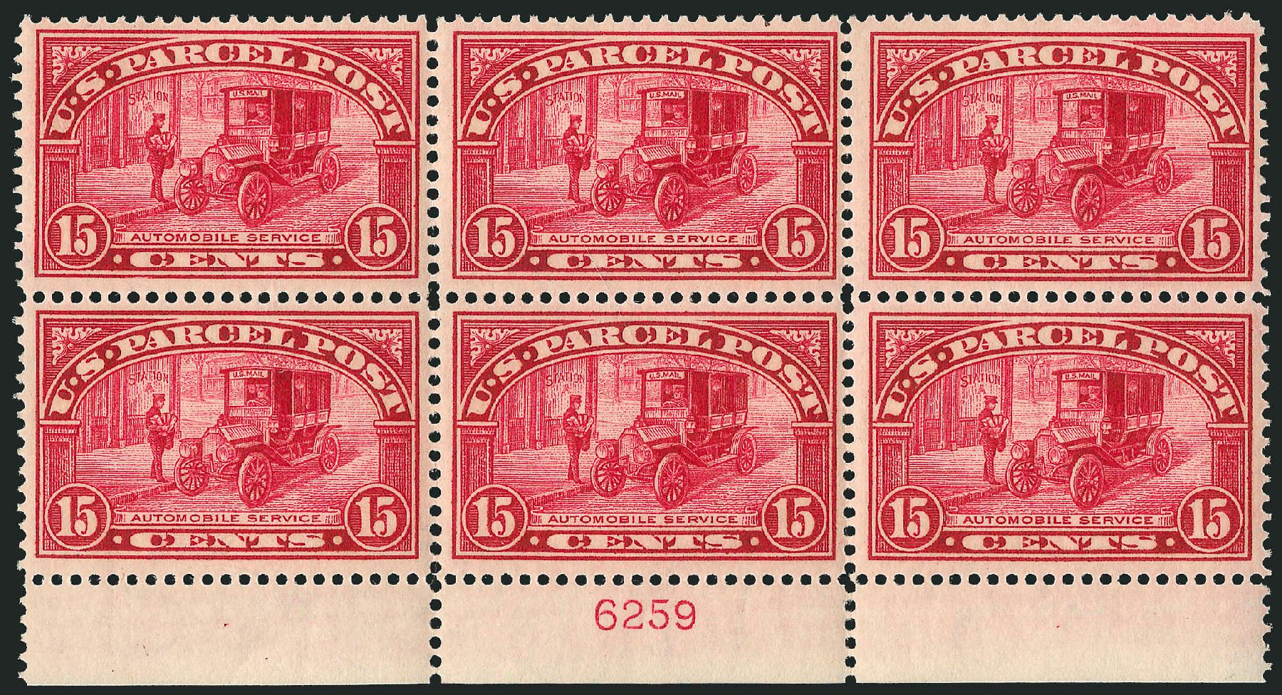 US Stamps Value Scott Catalogue #Q7: 15c 1913 Parcel Post. Robert Siegel Auction Galleries, Mar 2015, Sale 1094, Lot 284