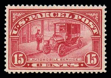 US Stamp Price Scott Cat. Q7 - 15c 1913 Parcel Post. Matthew Bennett International, Jun 2007, Sale 319, Lot 1752
