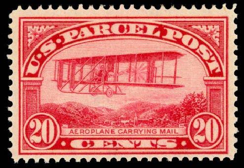 Costs of US Stamp Scott Cat. # Q8 - 20c 1913 Parcel Post. Daniel Kelleher Auctions, Jan 2015, Sale 663, Lot 2187