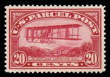 Cost of US Stamps Scott Catalogue #Q8: 1913 20c Parcel Post. Matthew Bennett International, Oct 2007, Sale 322, Lot 2328