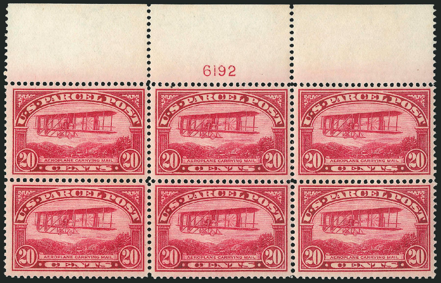 Value of US Stamps Scott #Q8 - 1913 20c Parcel Post. Robert Siegel Auction Galleries, Mar 2015, Sale 1094, Lot 285