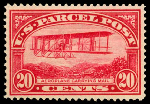 US Stamps Price Scott Cat. # Q8: 1913 20c Parcel Post. Daniel Kelleher Auctions, Dec 2014, Sale 661, Lot 472