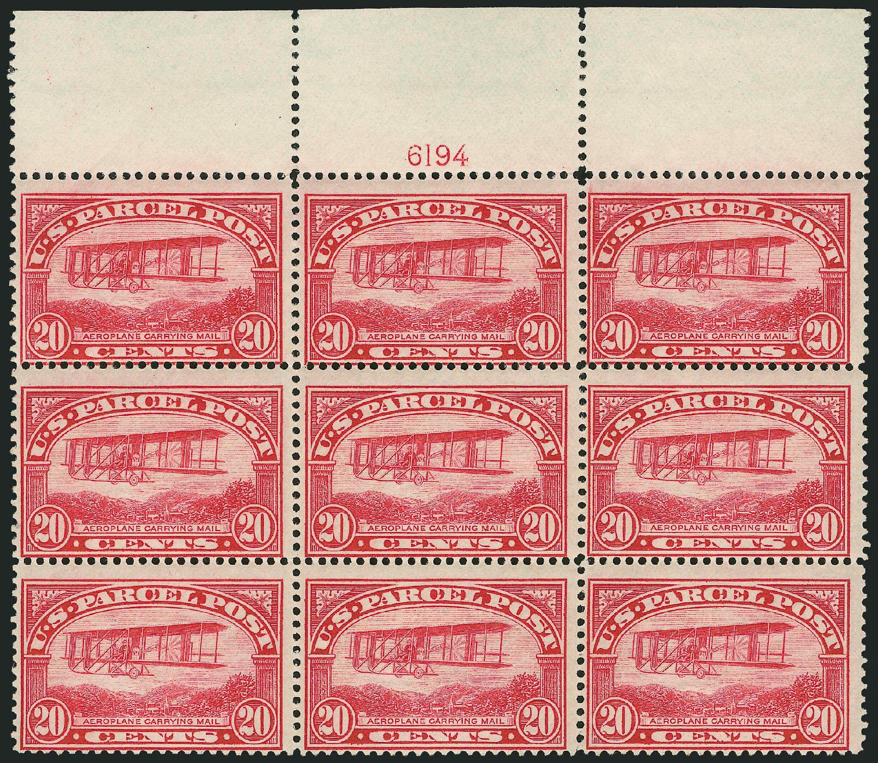 US Stamps Prices Scott Cat. # Q8 - 20c 1913 Parcel Post. Robert Siegel Auction Galleries, Mar 2015, Sale 1094, Lot 286