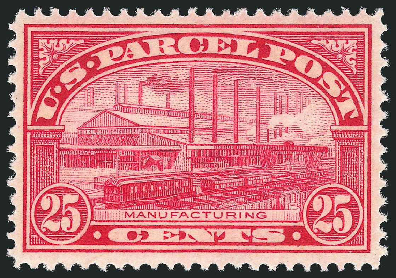 Costs of US Stamp Scott Q9 - 25c 1913 Parcel Post. Robert Siegel Auction Galleries, Nov 2013, Sale 1061, Lot 4227