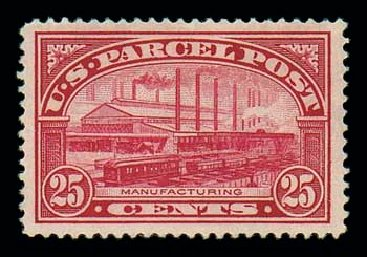 Value of US Stamp Scott Catalogue Q9: 25c 1913 Parcel Post. Matthew Bennett International, Jun 2007, Sale 319, Lot 1758