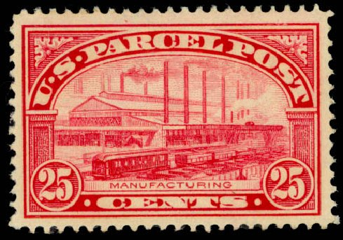 Price of US Stamp Scott #Q9: 25c 1913 Parcel Post. Daniel Kelleher Auctions, Jan 2015, Sale 663, Lot 2188