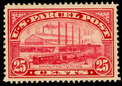 Price of US Stamp Scott #Q9: 25c 1913 Parcel Post. Daniel Kelleher Auctions, Jan 2015, Sale 663, Lot 2188