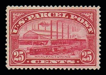 US Stamps Price Scott Cat. # Q9: 25c 1913 Parcel Post. Matthew Bennett International, Jun 2007, Sale 319, Lot 1759