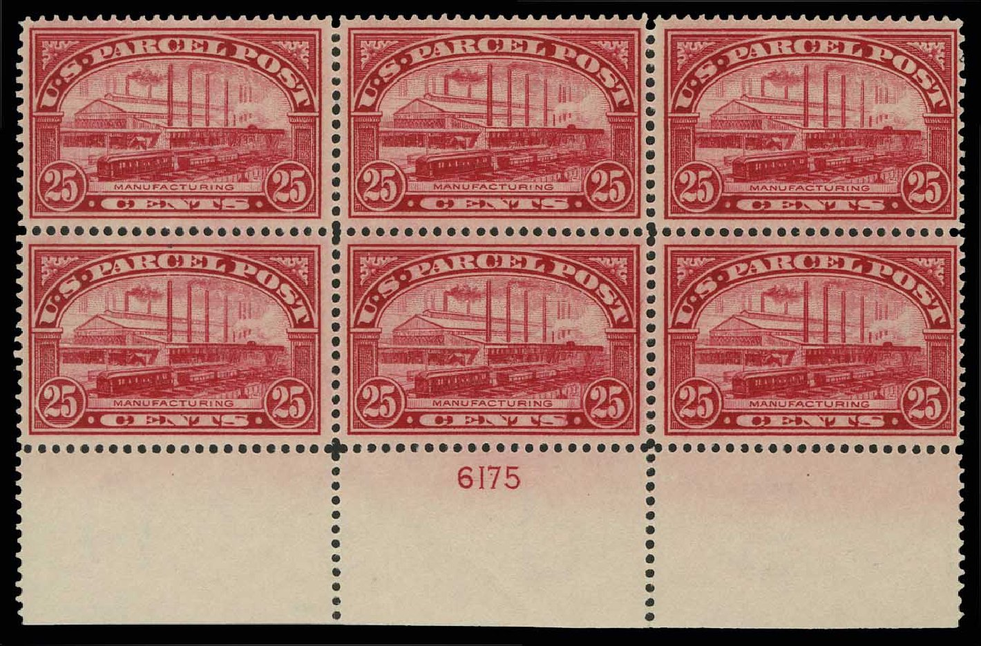 Value of US Stamp Scott Cat. #Q9: 1913 25c Parcel Post. H.R. Harmer, May 2014, Sale 3005, Lot 1434