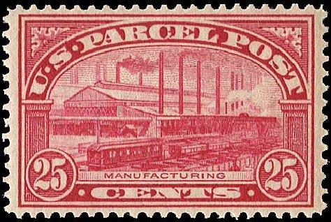 Cost of US Stamp Scott Catalog #Q9 - 25c 1913 Parcel Post. Regency-Superior, Nov 2014, Sale 108, Lot 1255