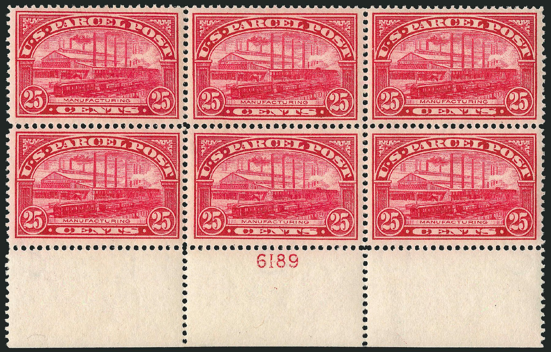 US Stamps Prices Scott Catalogue #Q9: 1913 25c Parcel Post. Robert Siegel Auction Galleries, Apr 2015, Sale 1096, Lot 952
