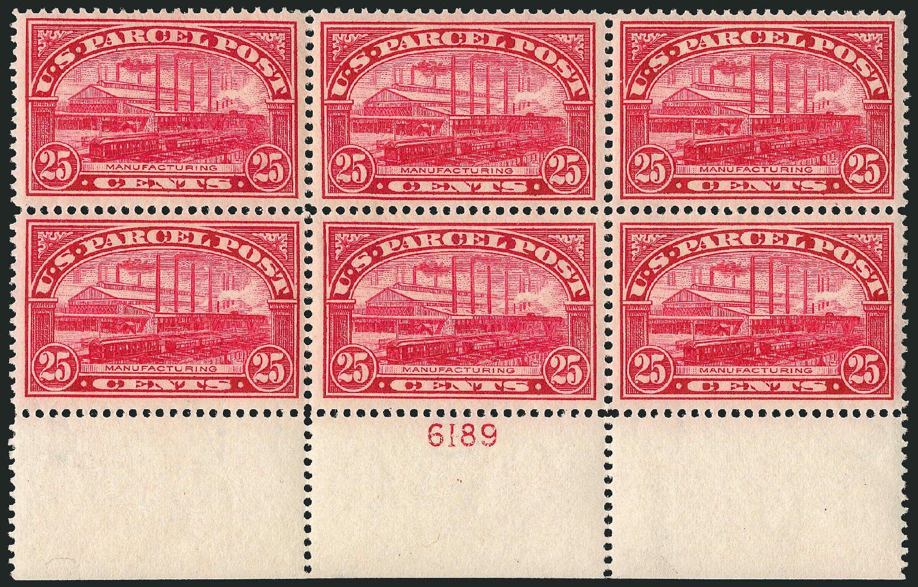 US Stamps Prices Scott Catalogue #Q9: 1913 25c Parcel Post. Robert Siegel Auction Galleries, Apr 2015, Sale 1096, Lot 952