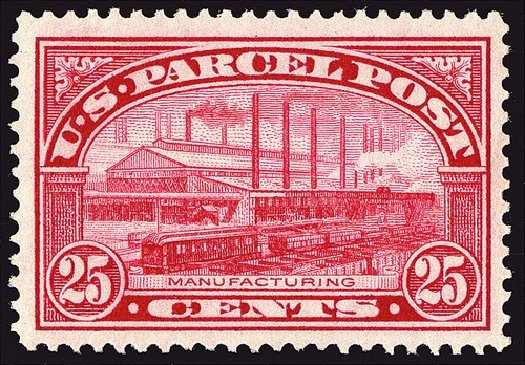 Costs of US Stamps Scott Catalog Q9: 25c 1913 Parcel Post. Spink Shreves Galleries, Jan 2014, Sale 146, Lot 536