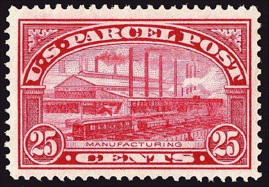 Costs of US Stamps Scott Catalog Q9: 25c 1913 Parcel Post. Spink Shreves Galleries, Jan 2014, Sale 146, Lot 536