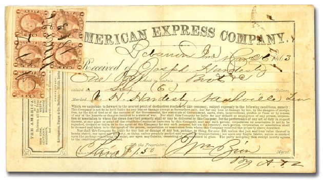 Value of US Stamp Scott R1: 1c 1862 Revenue Express. Daniel Kelleher Auctions, Jan 2015, Sale 663, Lot 2329