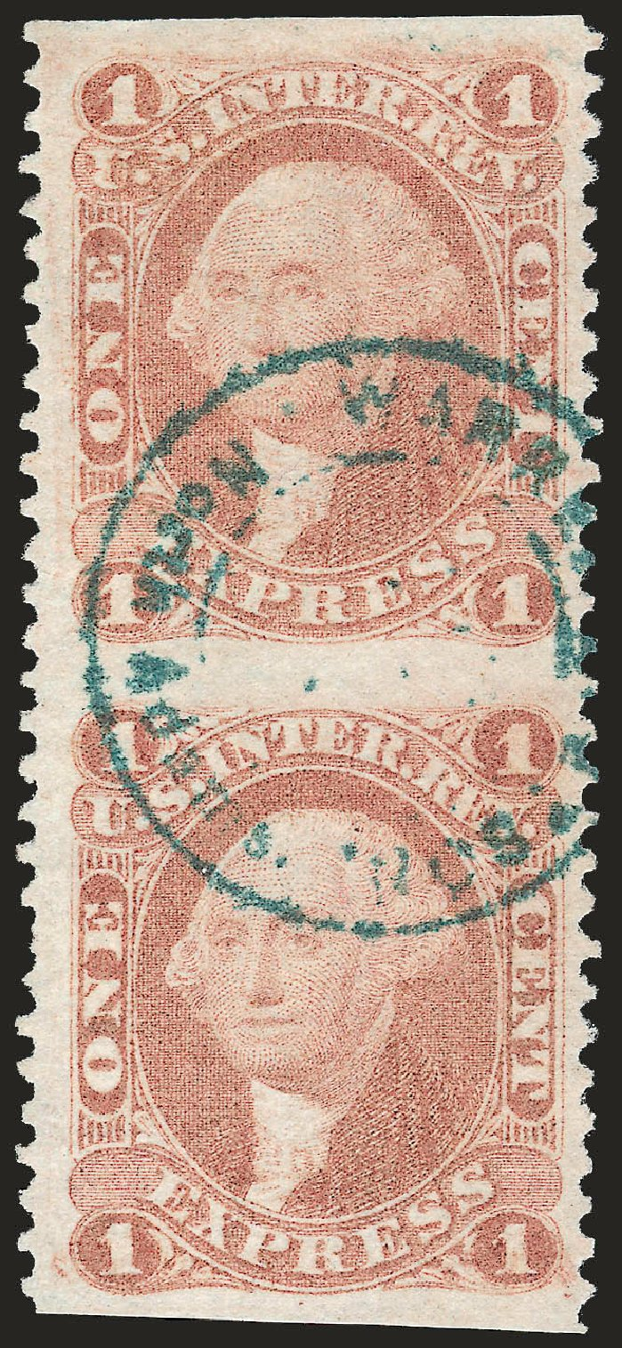 Values of US Stamp Scott Cat. R1 - 1862 1c Revenue Express. Robert Siegel Auction Galleries, Dec 2008, Sale 967, Lot 5219