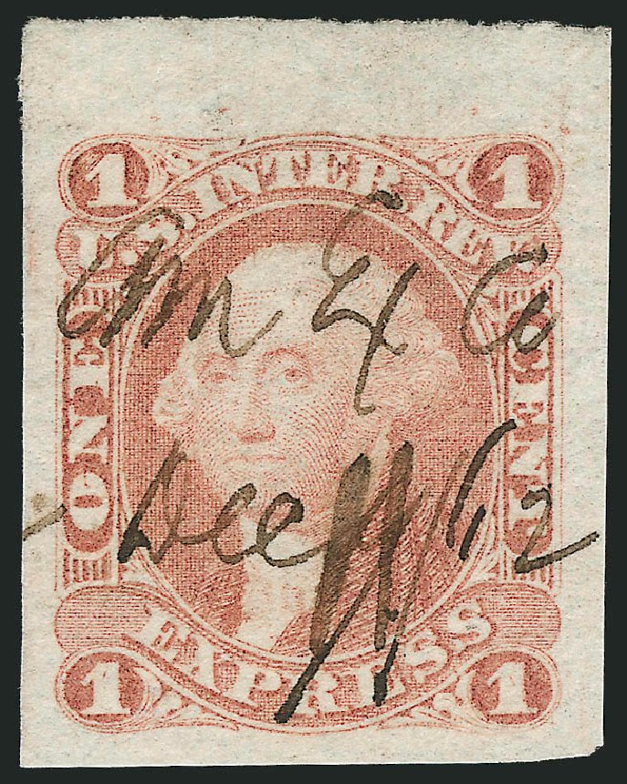 Value of US Stamp Scott Cat. # R1 - 1c 1862 Revenue Express. Robert Siegel Auction Galleries, Mar 2014, Sale 1066, Lot 1