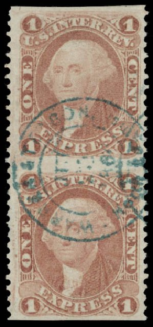 US Stamps Price Scott R1 - 1862 1c Revenue Express. Daniel Kelleher Auctions, May 2015, Sale 665, Lot 2