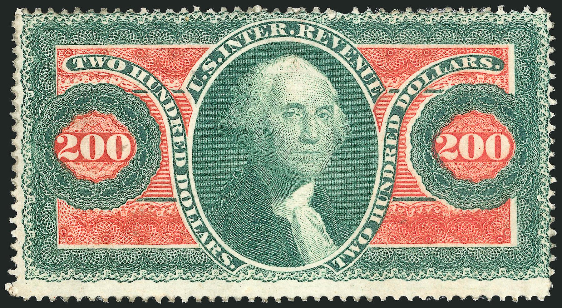 US Stamps Values Scott Catalogue # R102 - US$200.00 1863 Revenue Internal. Robert Siegel Auction Galleries, Dec 2014, Sale 1089, Lot 315