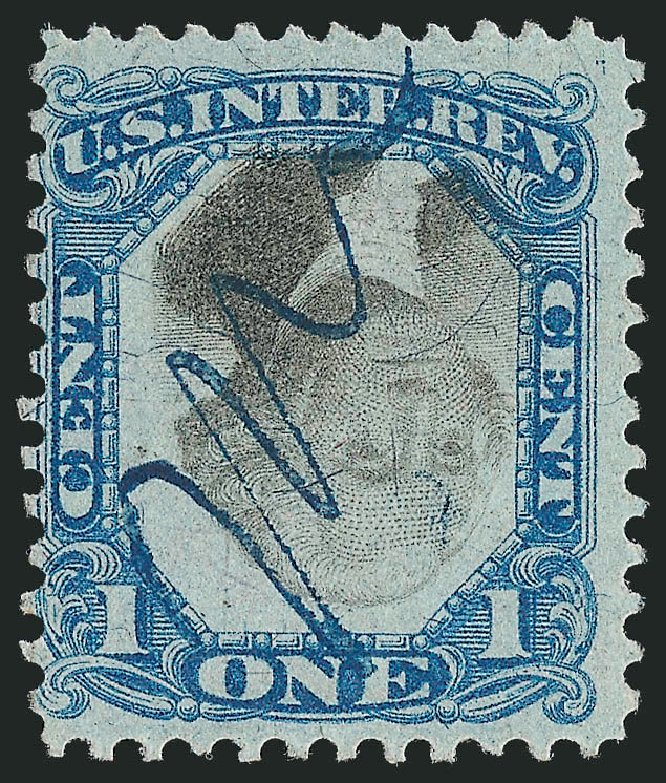 Cost of US Stamp Scott Catalogue R103 - 1871 1c Revenue Documentary . Robert Siegel Auction Galleries, Jun 2012, Sale 1025, Lot 277