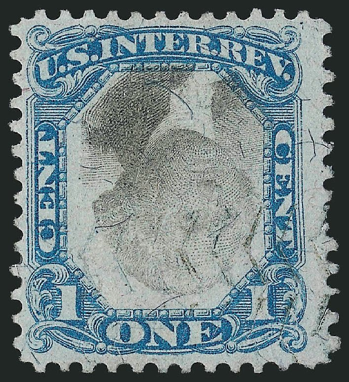 US Stamp Value Scott Catalogue R103: 1c 1871 Revenue Documentary . Robert Siegel Auction Galleries, Mar 2014, Sale 1067, Lot 557