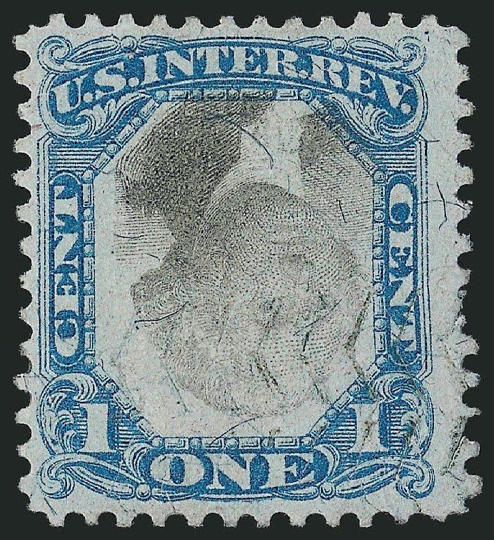 US Stamp Value Scott Catalogue R103: 1c 1871 Revenue Documentary . Robert Siegel Auction Galleries, Mar 2014, Sale 1067, Lot 557