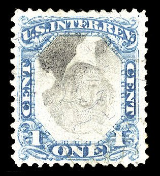 Cost of US Stamp Scott R103: 1c 1871 Revenue Documentary . Cherrystone Auctions, Nov 2009, Sale 200911, Lot 3178