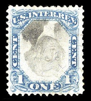 Cost of US Stamp Scott R103: 1c 1871 Revenue Documentary . Cherrystone Auctions, Nov 2009, Sale 200911, Lot 3178