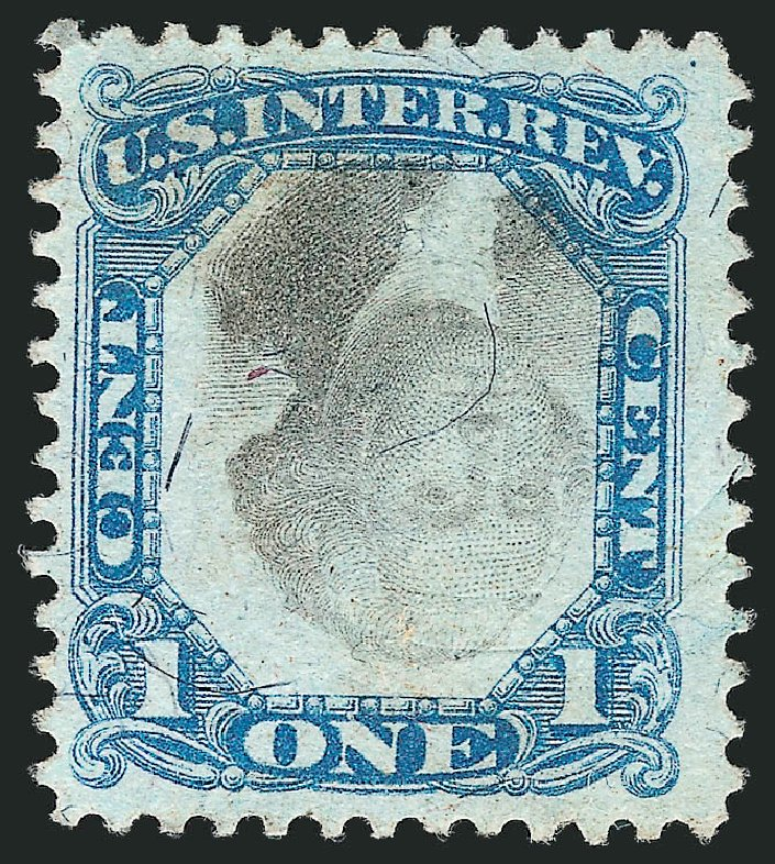 US Stamp Values Scott Catalog R103 - 1c 1871 Revenue Documentary . Robert Siegel Auction Galleries, Apr 2015, Sale 1096, Lot 980