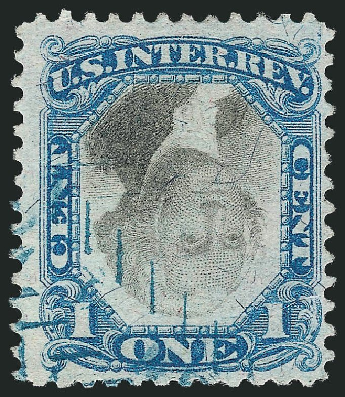 Prices of US Stamp Scott Catalog #R103: 1871 1c Revenue Documentary . Robert Siegel Auction Galleries, Dec 2014, Sale 1089, Lot 475